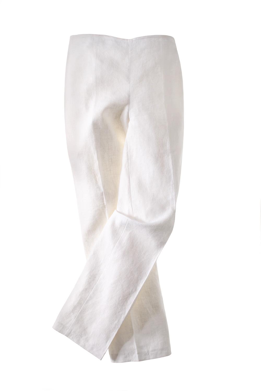 Leinen-Hose-white